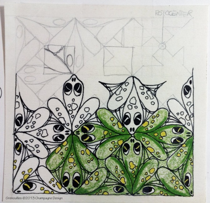 My first tessellation, Frogs, ©1988
