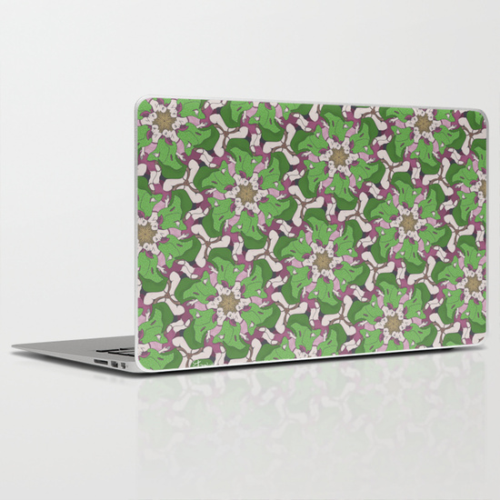 Laptop or iPad skin with Do Look Back tessellation by Francine Champagne, ©2014