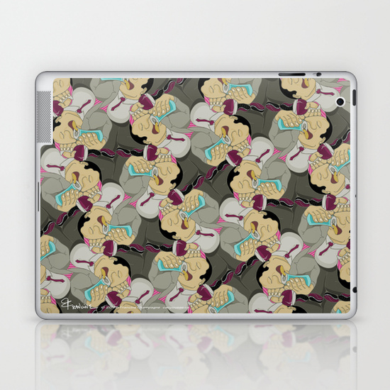 Ipad skin with Down the Hatch tessellation by Francine Champagne, ©2014