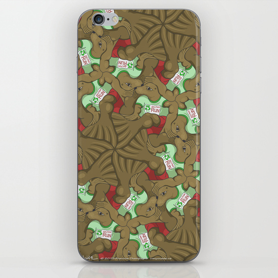 Iphone case with Harbour Seals tessellation by Francine Champagne, ©2014