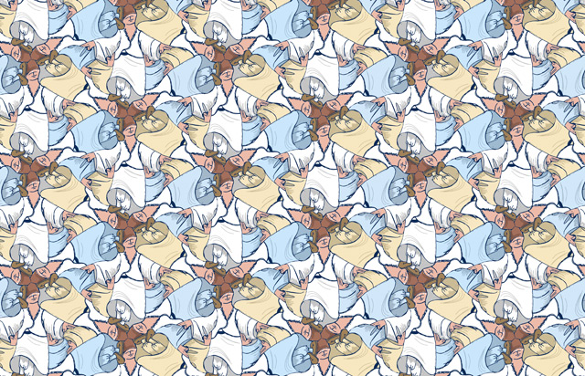 Whirling Dervish tessellation by Francine Champagne ©2016