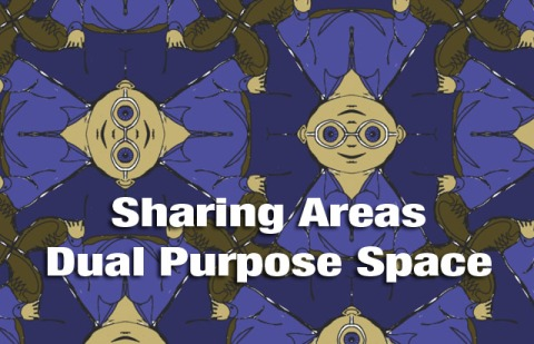 Sharing Areas between tessellations, dual purpose space