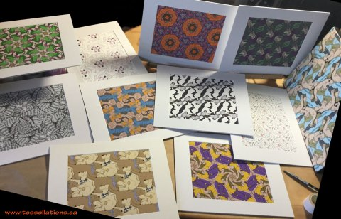 Tessellation prints by Francine Champagne