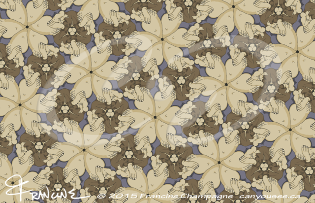 Alex Broadfoot tessellation by Francine Champagne, ©2013