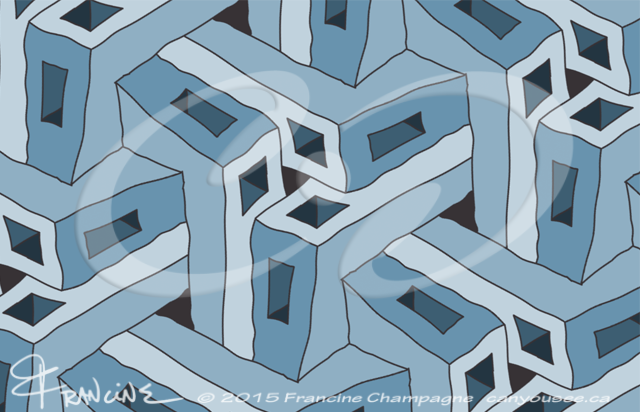 Angle Iron Blues tessellation by Francine Champagne, ©2014