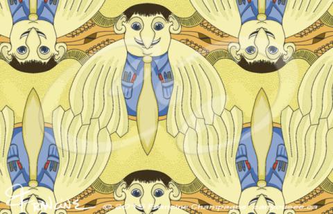 Bird Brainiac tessellation by Francine Champagne, ©2014