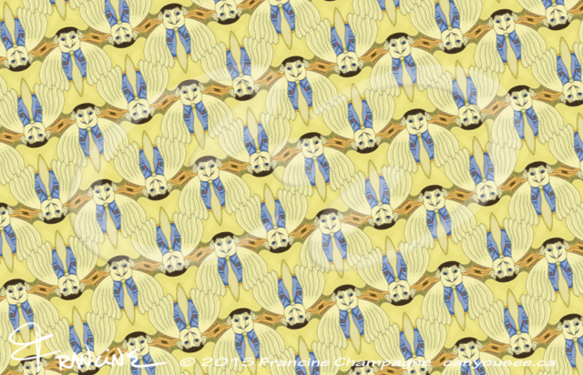 Bird Brainiac tessellation by Francine Champagne, ©2014