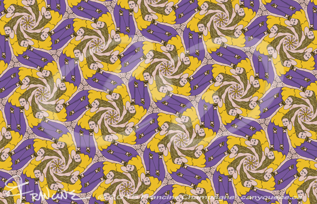 Put Her Right Here Babe tessellation by Francine Champagne, ©2015