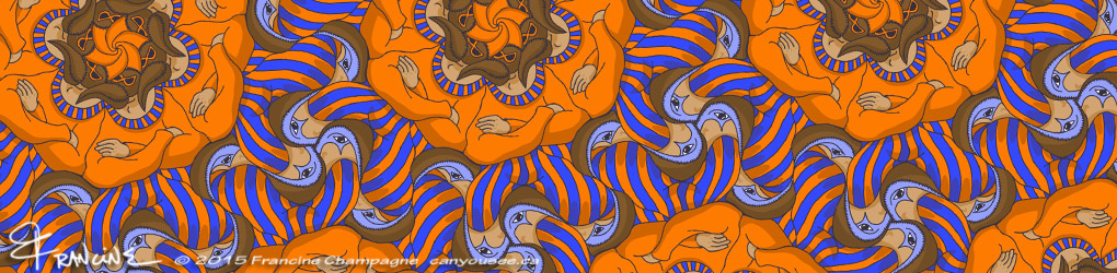 Carnaval Tessellation by Francine Champagne, ©2015