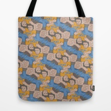 Tote Bag, Tofino Hitchhiker tessellation by Francine Champagne, ©2013