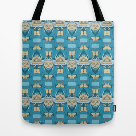 Blue Rinse with handbag tessellation by Francine Champagne, ©2013
