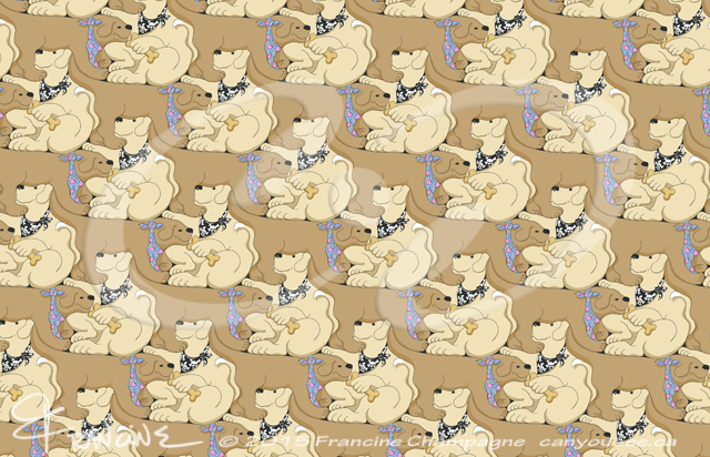 Mmmm Cookies, a dog tessellation by Francine Champagne, ©2013