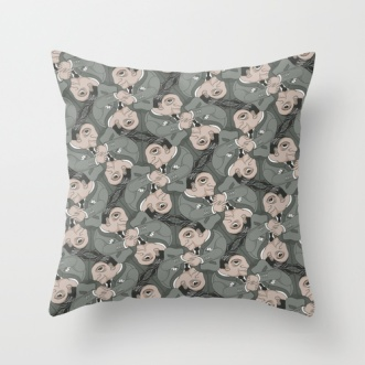 Pillow with Posh Usher tessellation by Francine Champagne, ©2013