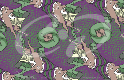Wizard tessellation by Francine Champagne, ©2013