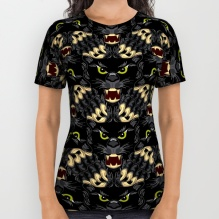 Black Panther tessellation printed full front on a t shirt!