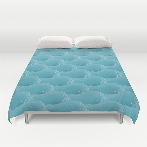 www.society6.com/feene — Ocean Spray Surf tessellation by Francine Champagne, ©2013 symétruc d'embrun de mer