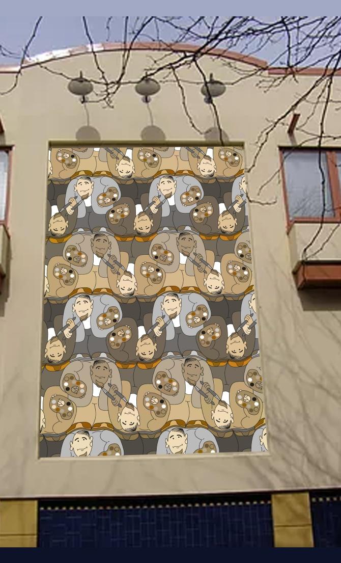Artist tessellation by Francine Champagne, ©2016 — Symétruc d'artiste