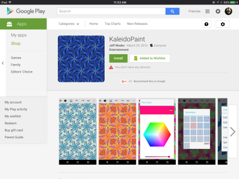 KaleidoPaint is now on Android