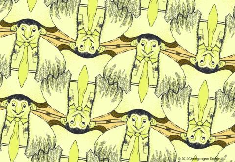 Original Bird Brainiac tessellation