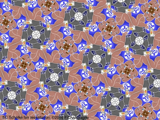 FC Schalke fan tessellation, ©2016 F.Champagne