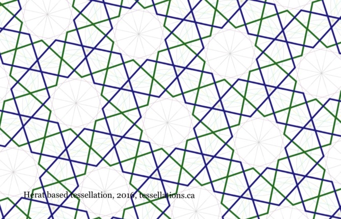 Herat inspired tessellation, tessellations.ca