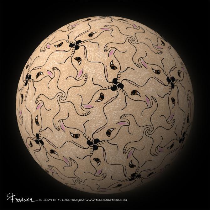 Dash Hound tessellation, ©2016 F.Champagne