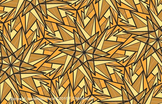 Starburst tessellation, ©2016 F.Champagne