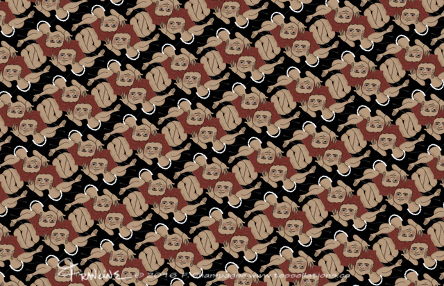 The Redhead, Pearl J. Bailey tessellation, ©2016 F.Champagne