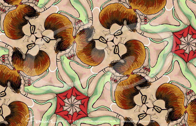 Djeeewizz it's hot out today tessellation by Francine Champagne ©2016
