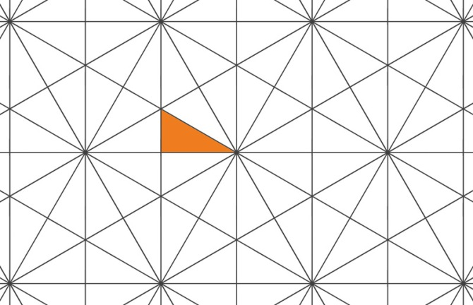 The whole of the nested shape must fit inside this sliver of a P6m triangle!
