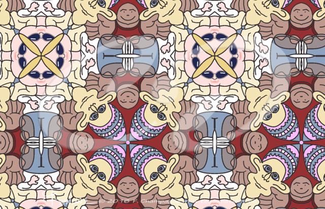Oxymora tessellation by Francine Champagne ©2013