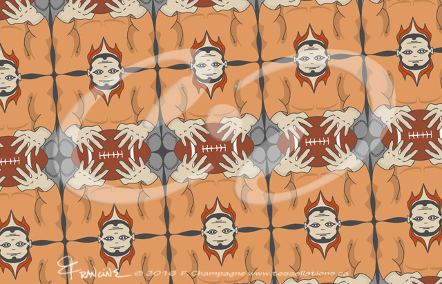American Football 2 tessellation by Francine Champagne ©2016
