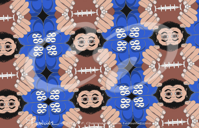 American Football tessellation by Francine Champagne ©2016