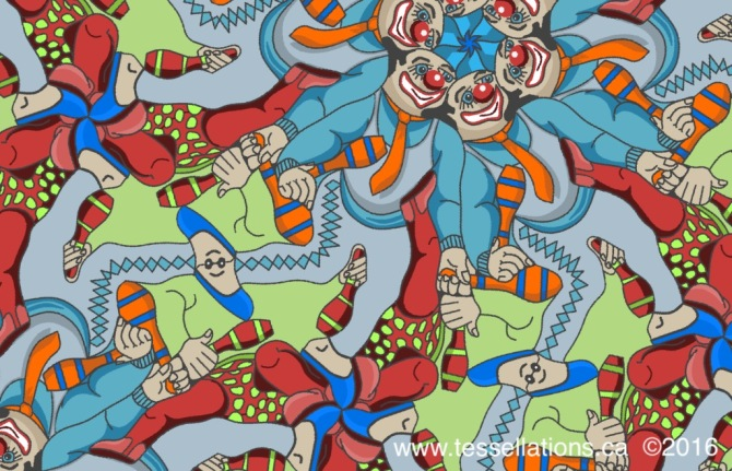 Juggling Performers tessellation ©2016 Champagne Design
