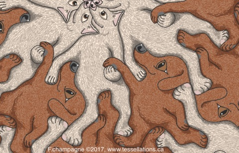 Help me reach the cookie jar, please! A tessellation by Francine Champagne