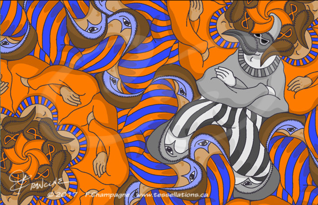 Carnaval tessellation by Francine Champagne, ©2013