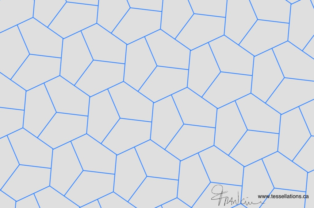 Pentagon tessellation in symmetry group P3